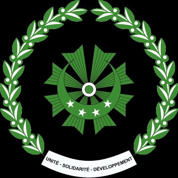 Logo Gambar Lambang Simbol Negara Komoro PNG JPG ukuran 600 px