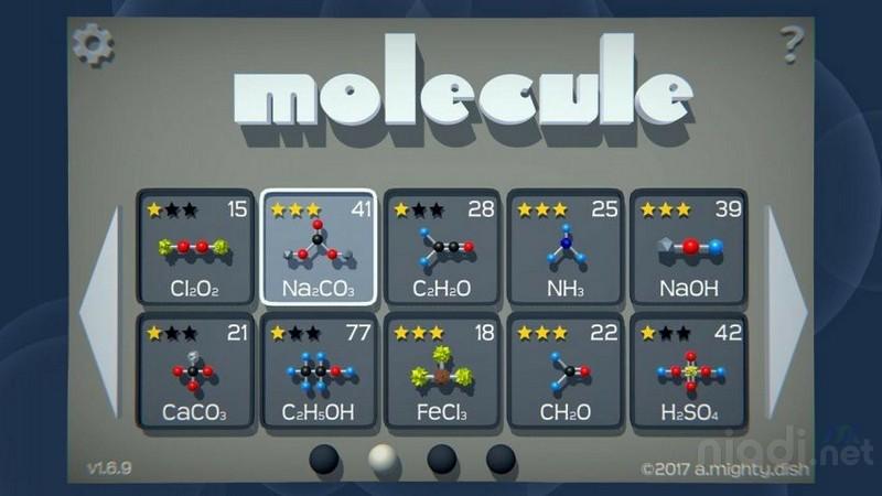Daftar Game Android untuk Belajar Kimia, Molecule-A Chemistry Puzzle Challenge