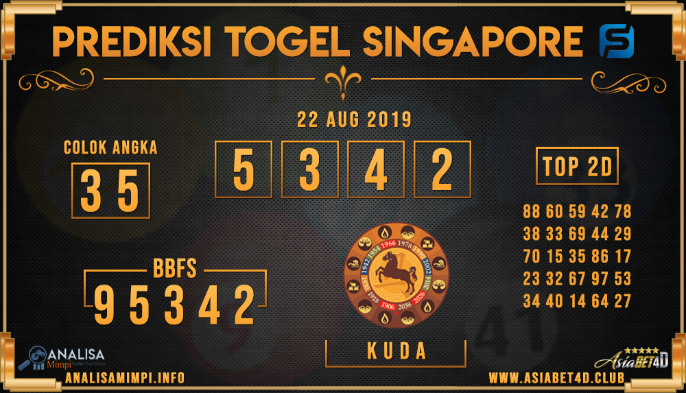 PREDIKSI TOGEL SINGAPORE ASIABET4D 22 AUG 2019