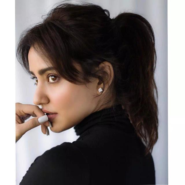 Neha Sharma High Ponytail