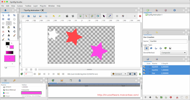 Synfig Studio Best Alternative To Adobe Flash On Linux