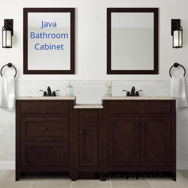 java bathroom cabinet
