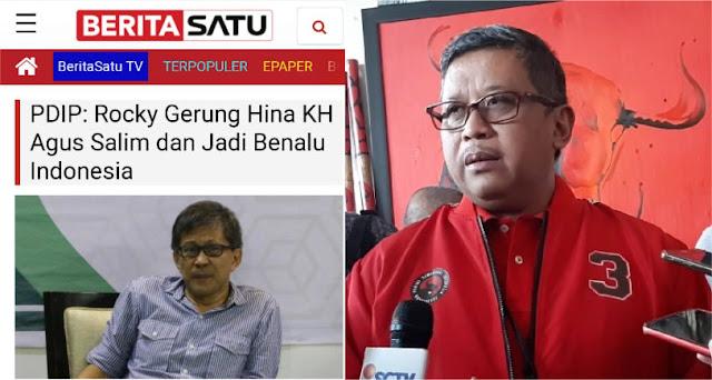 Disebut Hina KH Agus Salim oleh Hasto, Rocky Gerung Beri Jawaban Telak