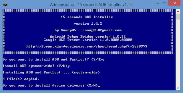 15 Second ADB Installer Latest Version V1.4.3 Free Download For Windows