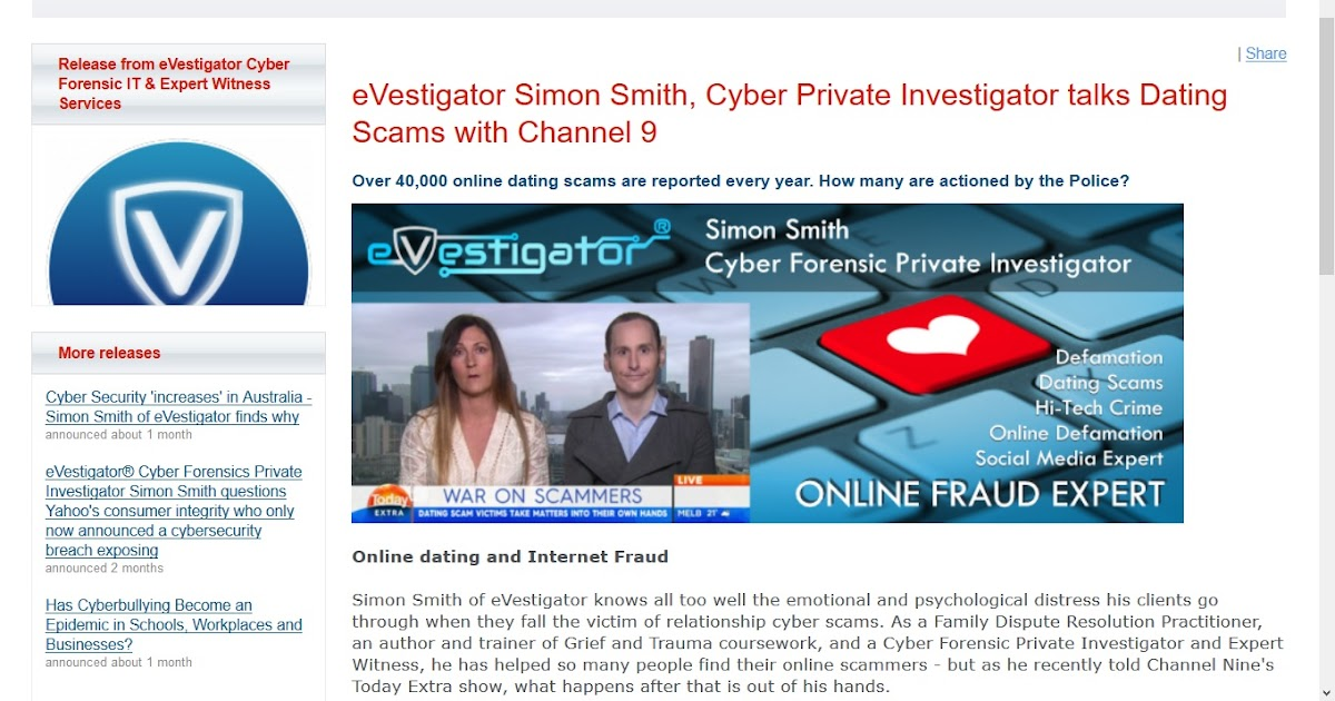 Online dating scams tinder