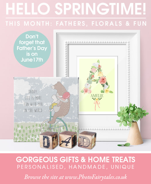 Springtime personalised gifts and keepsakes from PhotoFairytales