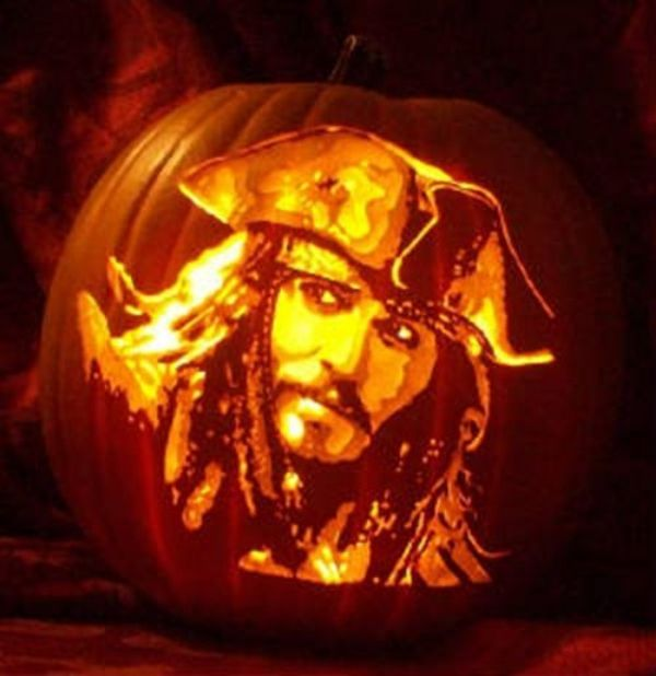 Cool Pumpkin carving - Jack Sparrow
