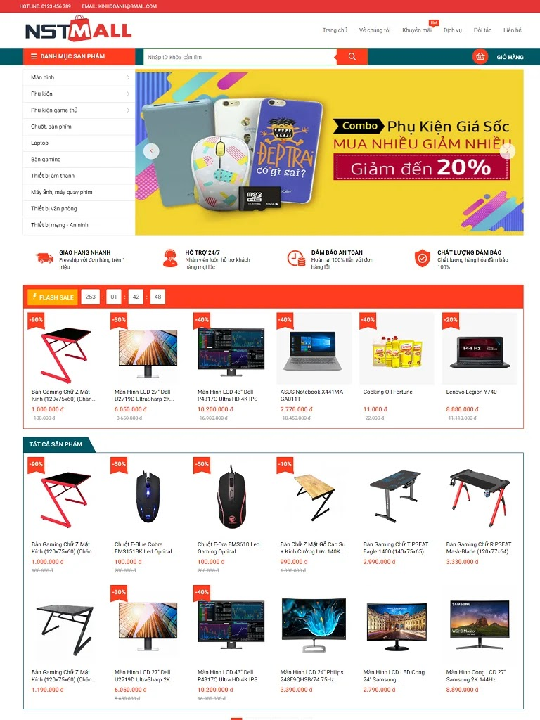 Template blogspot bán hàng máy tính chuẩn seo
