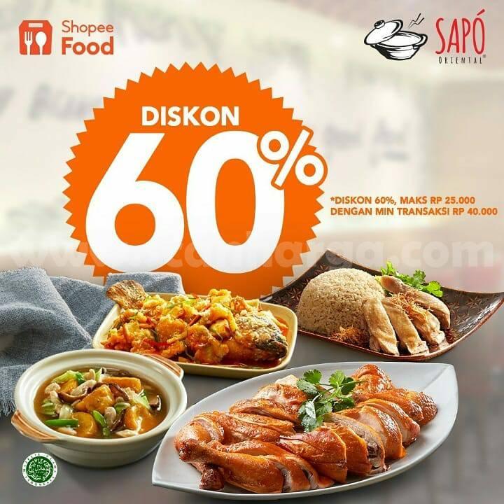 Promo SAPO ORIENTAL DISKON 60% khusus Order via ShopeeFood