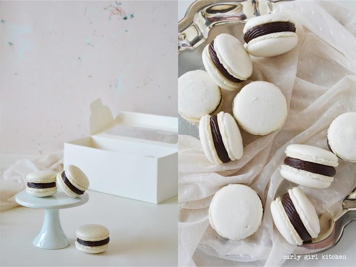 Macarons, French Macarons, Vanilla Bean Macarons, Black and White Macarons, Vanilla Chocolate Macarons, Macaron Tips, Black and White Cookies