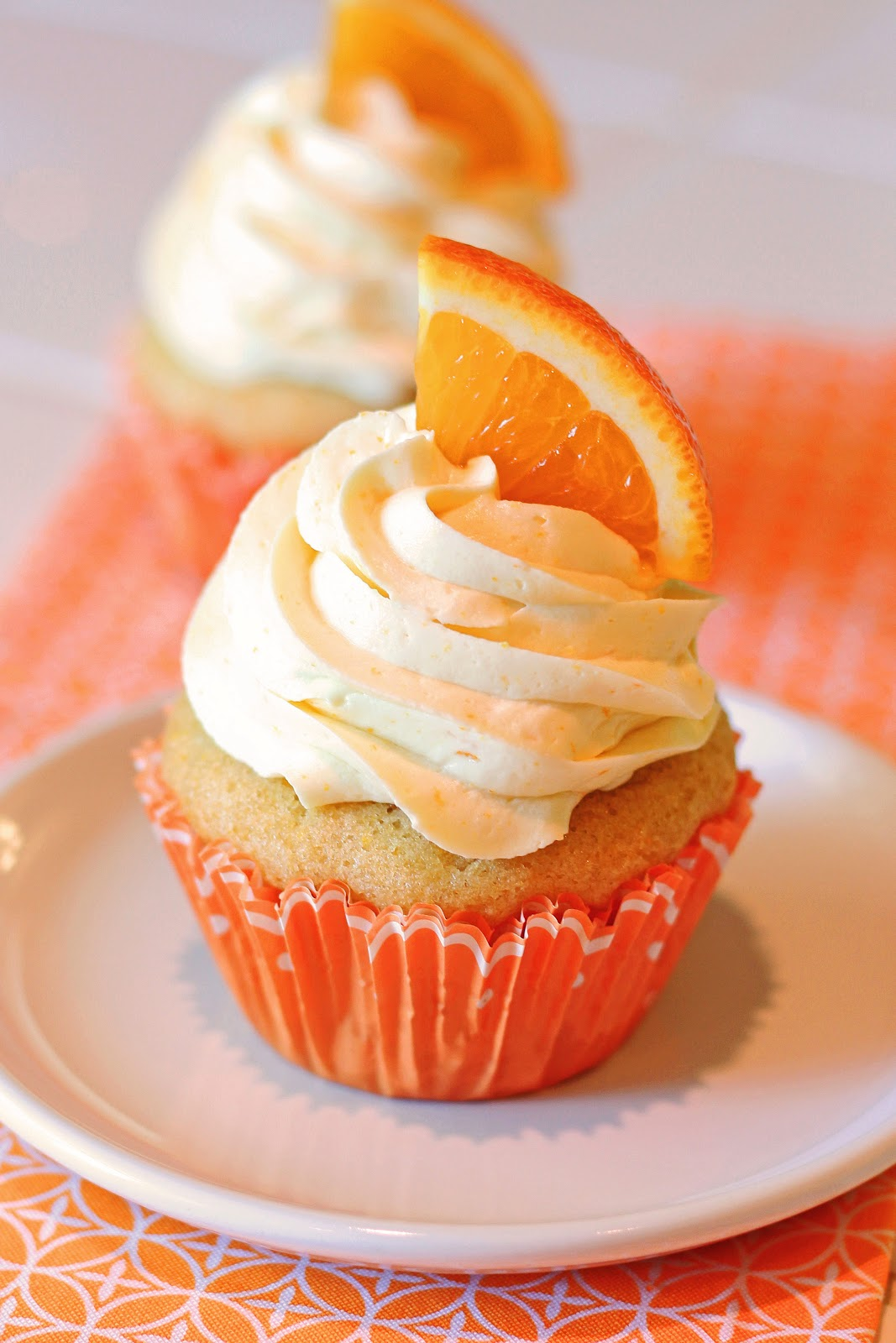 gluten free vegan orange creamsicle cupcakes - Sarah Bakes ...
