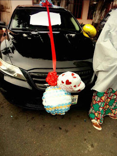 Entertainment: Nigerian Lady Surprises Husband With A Car Gift