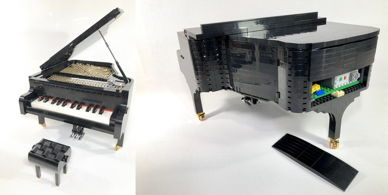 弾けるレゴのピアノ(Playable Lego Piano)