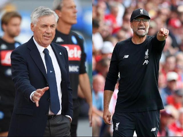 Napoli vs Liverpool: Tactics contest Ancelotti avec Klopp encore Draw
