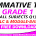 Summative Test Grade 1 All Subjects Q1