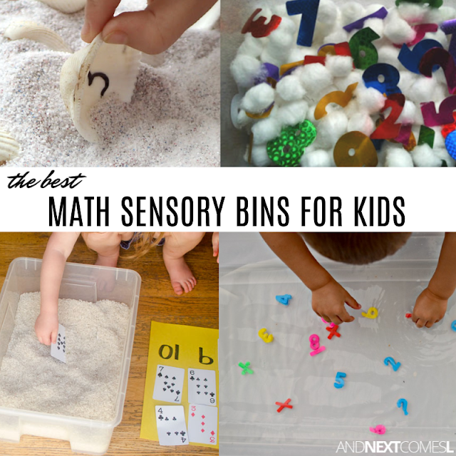 Number and math sensory bin ideas