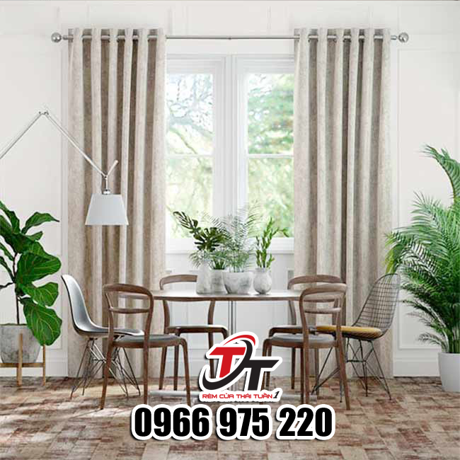 Rèm vải chống nắng cản sáng cho cửa sổ