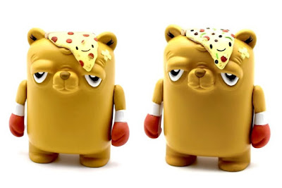 The Bear Champ Pizza Party Custom Vinyl Figures by The Bots x JC Rivera x UVD Toys