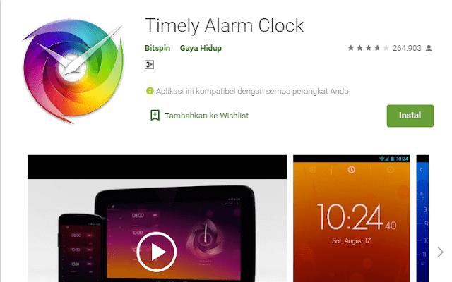 Aplikasi Alarm Terbaik Timely Alarm Clock