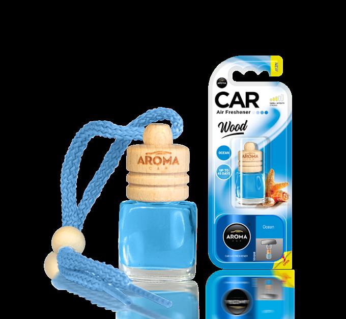 Tinh dầu treo ô tô Aroma Car Wood 6ml - Ocean