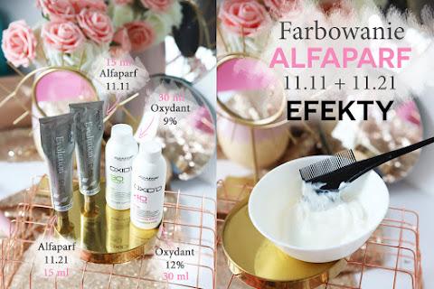 Farba Alfaparf 11.11 + 11.21 - efekt na moich blond włosach - czytaj dalej »