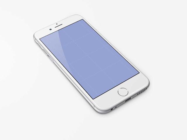 Free iPhone 6 Template PSD Mockups