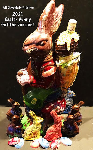 All Chocolate Kitchen 2021 Easter Bunny. Image credit All Chocolate Kitchen.