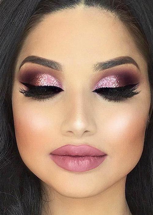 maquillaje con glitter 2019