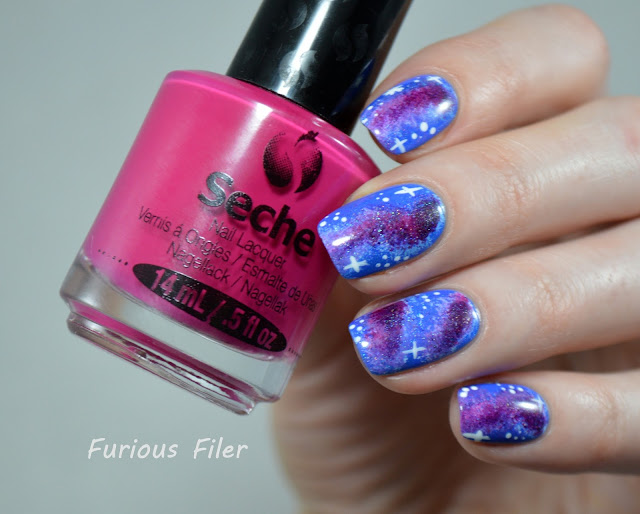 galaxy nail art tutorial holo stars furious filer