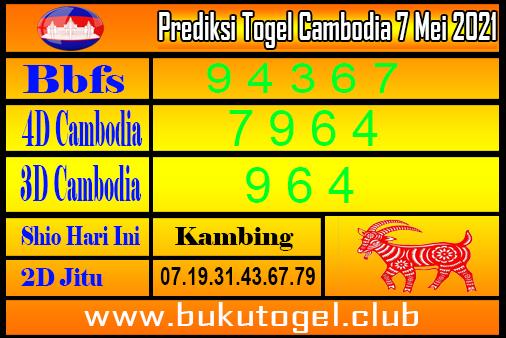 Prediksi Togel Cambodia 7 Mei 2021