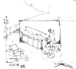 Ad hod sketch, a corner in Hong Kong