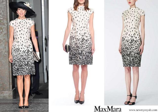 Crown Princess Mary wore Max Mara printed silk dress