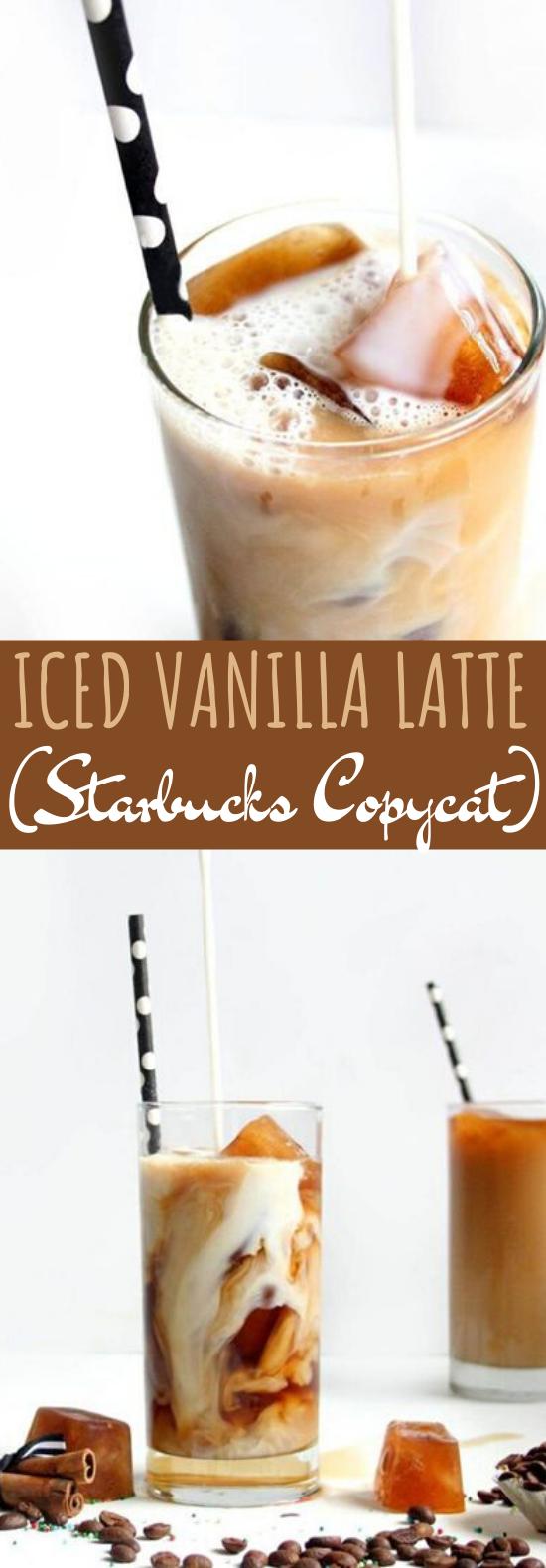 Iced vanilla latte #drinks #latte #iced #coffee #easy
