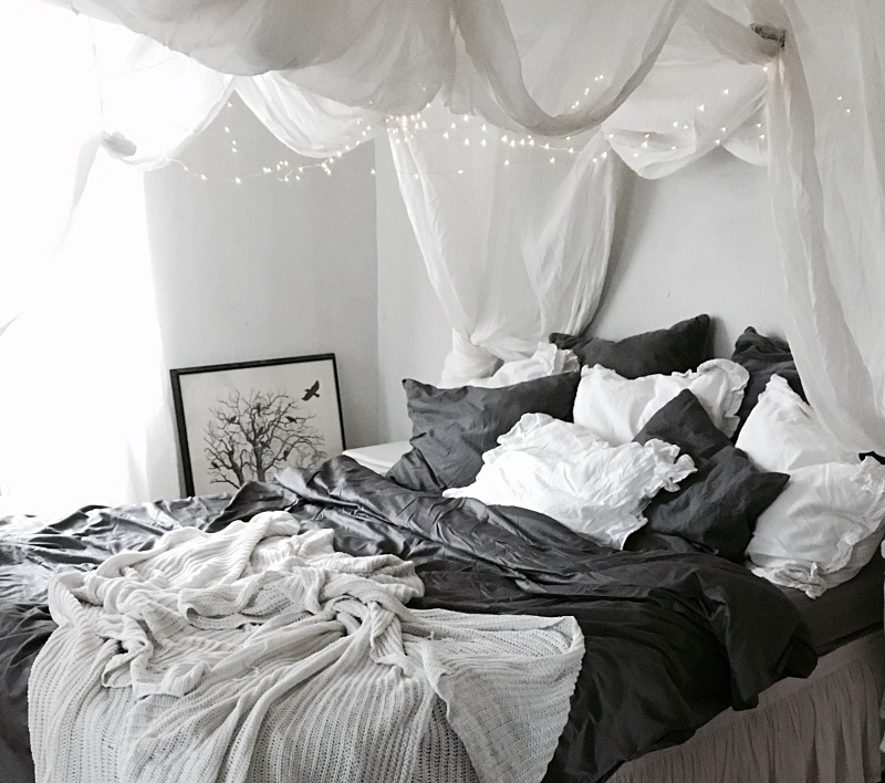 fairy light, sovrum, bedroom, DIY, ljusslinga, juldekoration, christmasdeco