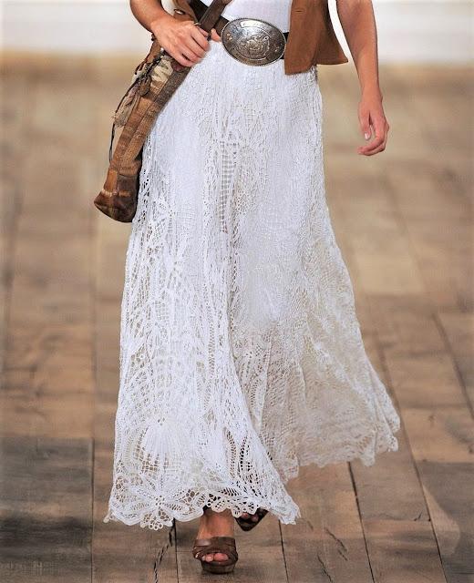 battenberg lace skirt