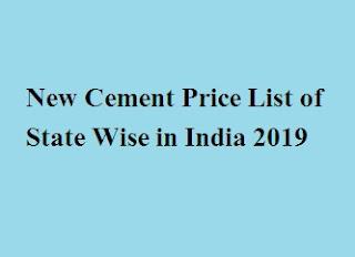 Cement Price List