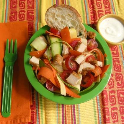 Ribbon Salad with Chicken
