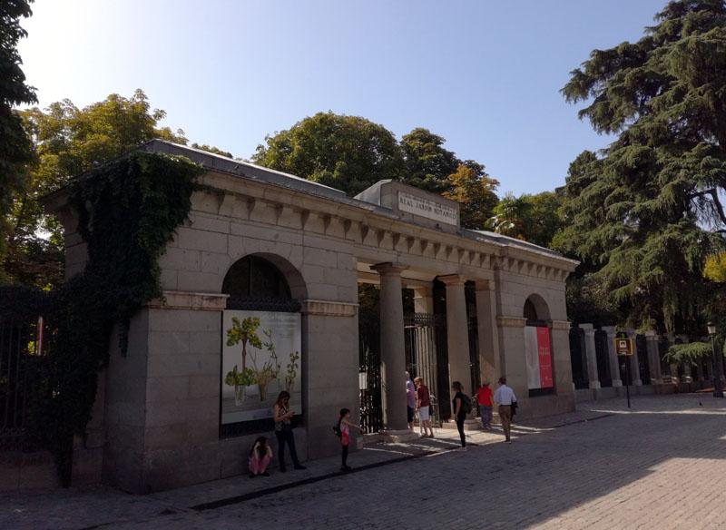 Foto: L'ingresso del Real Jardín Botánico a Madrid