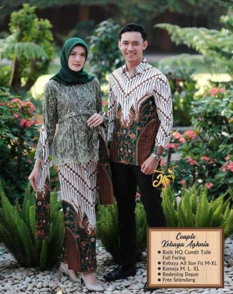 Rp 280.000 Paket Batik Pasangan Kemeja dan Brukat Gratis Selendang - Beneran Murah Kaka Yuk di Order