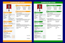 Contoh CV Lamaran Kerja yang Baik dan Menarik - Design #1