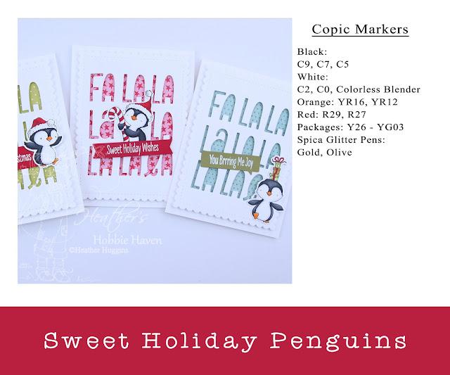 Heather's Hobbie Haven - Sweet Holiday Penguins Card Kit
