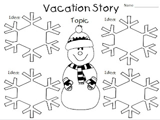 Classroom Freebies Too: Vacation Graphic Organizer Writing