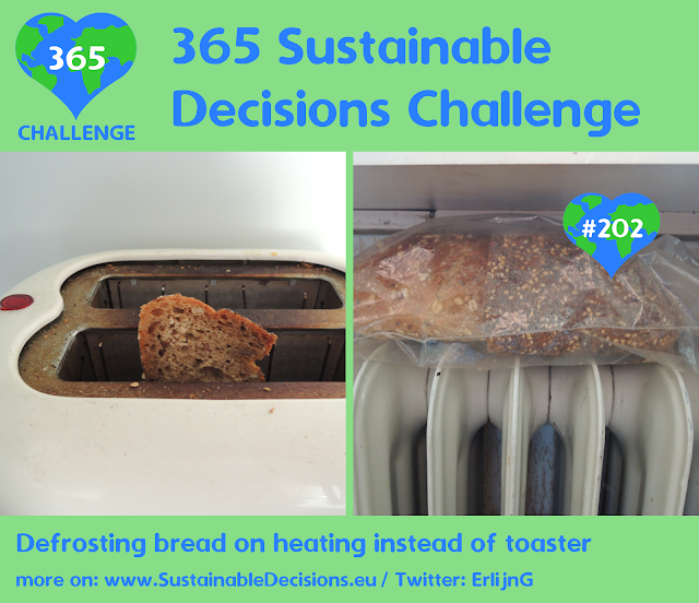 Defrosting bread on heating instead of toaster saving energy