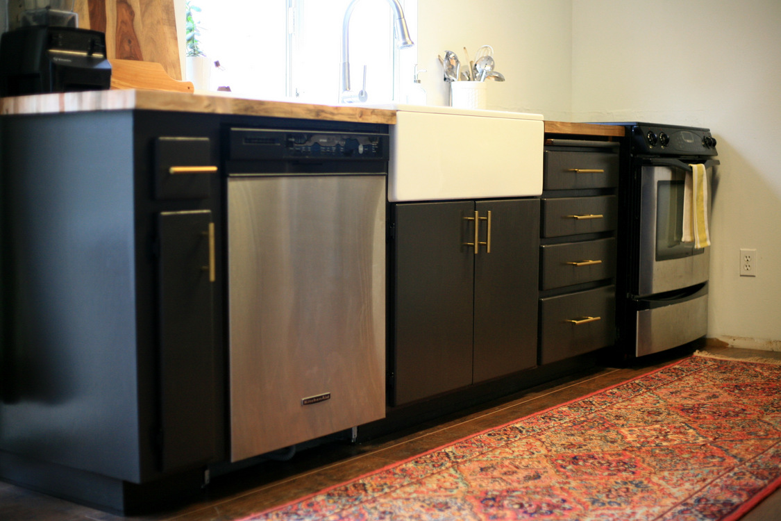 I Considered Doing A Knob To Match But Really Like The Modern Look Of The  Bars On The Cabinet Doors As Well As Drawers.