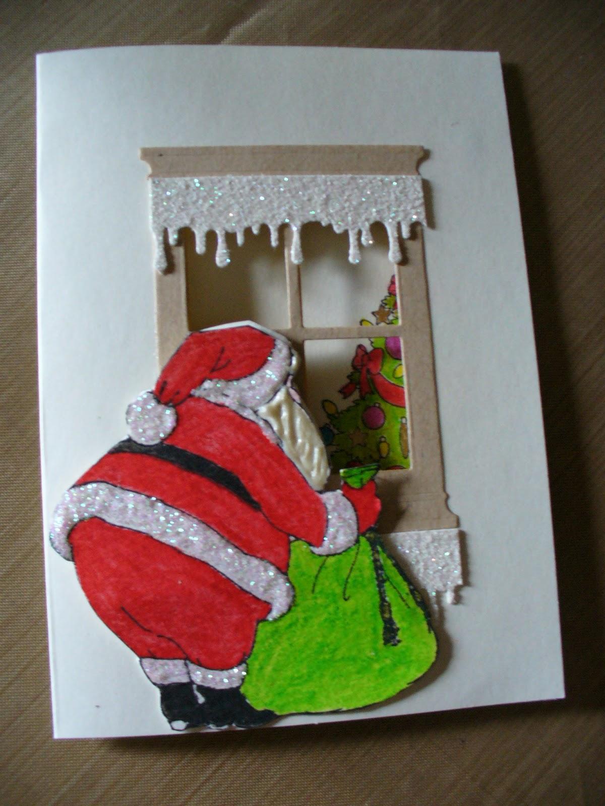 Carla's Cards: Santa Window Card