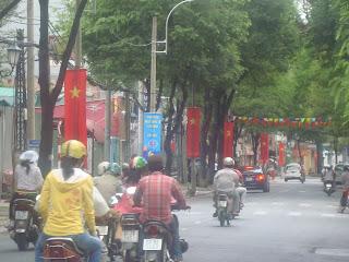 Bandiere nel Giorno dell'Indipendenza del Vietnam