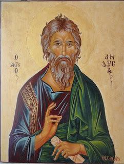 Αγιογραφία του Αγίου Ανδρέα δια χειρός της φίλης Theo Sav (Θεοδώρα Σαββίδη)