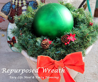 Decorating for the Holidays - Easy Life Meal & Party Planning - Ideas for repurposing old holiday decorations