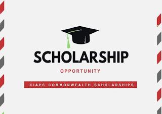 CIAPS Commonwealth Scholarships Postgraduate Studies 2019/2020