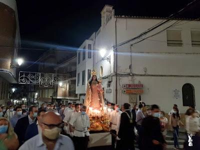 La Virgen del Carmen de Rute fue trasladada a su Santuario